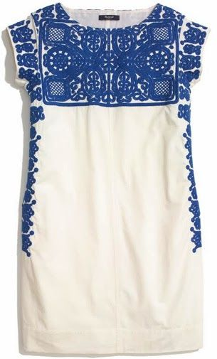 madewell embroidered casita dress