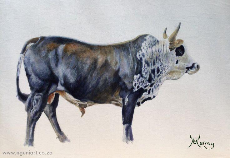 Nguni Bull oil painting  www.nguniart.co.za