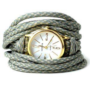 Til det cool armbånd herover skal du bruge følgende smykkematerialer: 1 stk. ur 2 meter paracord / faldskærmssnor 1 stk. magnetlås