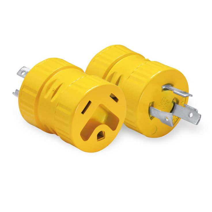 30 Amp/125-Volt 3-Prong Male to RV 30 Amp/125-Volt Female RV Outlet Adapter