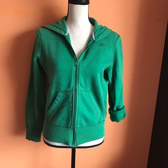 Green Nike Zip Up Gently worn Nike Green Zip Up Nike Tops Sweatshirts & Hoodies