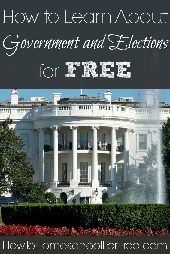 Teach your kids how our country works with these FREE resources on government and the election process! http://howtohomeschoolforfree.com/government-election-process-homeschool-free/