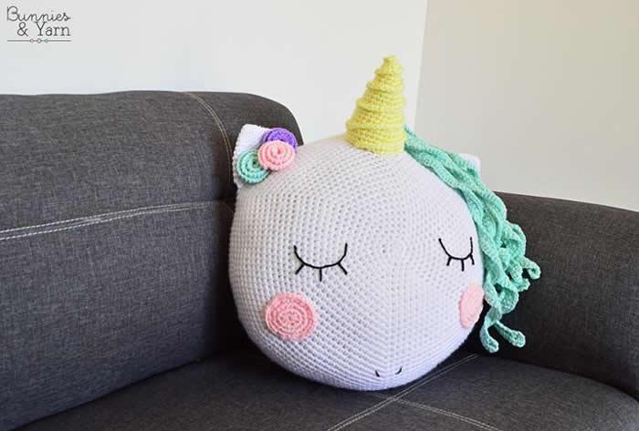 DIY como hacer un cojín unicornio a crochet | crochet | Pinterest ...