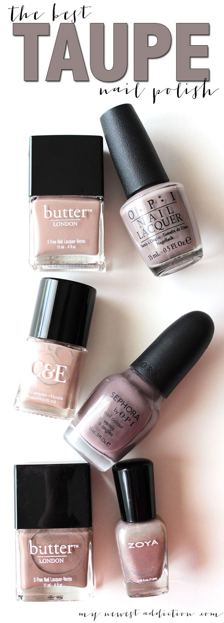 The Best Taupe Nail Polish - http://www.mynewestaddiction.com/2014/10/the-best-taupe-nail-polish.html