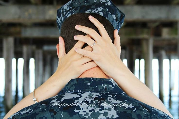 Military Couples Engagement Photography by KayLa Ocasio
