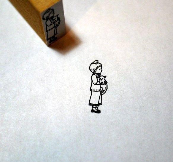 size・・・約1×2.5cmイラストレーターのkrimgenさんにイラストで オリジナルのハンコを作りました。手紙やラッピングに是非^^*こちら...|ハンドメイド、手作り、手仕事品の通販・販売・購入ならCreema。