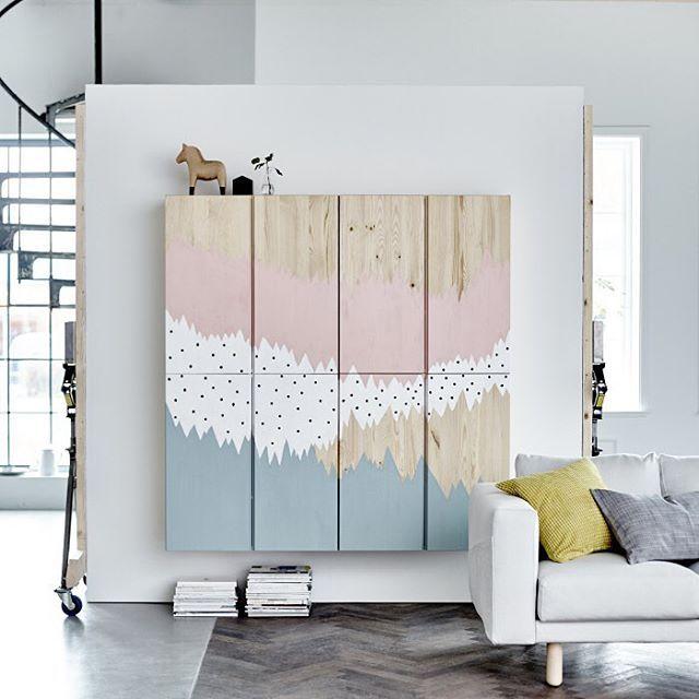 Ved at male IVAR skabe, kan du lave dit eget personlige udtryk i din indretning…