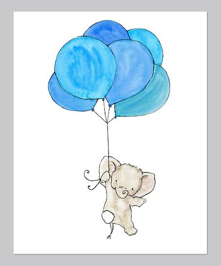 This little elephant has big plans—and a big balloon to help see them through! Bound to inspire big dreams, this archival-quality print is an ideal finishing touch for any sweetie's sanctuary, and comes ready to be framed and admired.