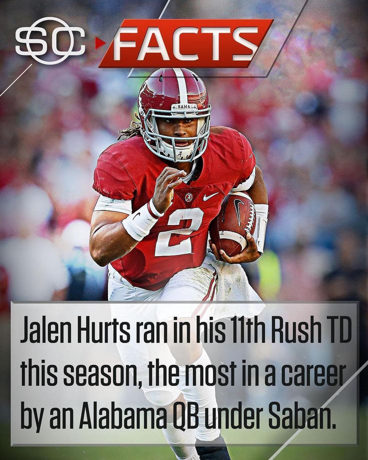 Jalen Hurts has already set a career record for Alabama under Saban... in 1 season. #SCFacts #Alabama #RollTide #Bama #BuiltByBama #RTR #CrimsonTide #RammerJammer