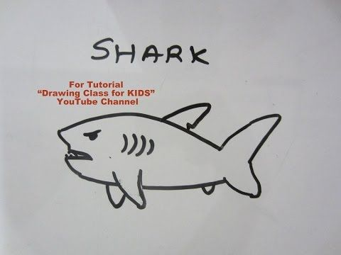 """YouTube shark fish. Search """"Drawing Class for KIDS"""" YouTube Channel for more Easy Drawing Tutorials for KIDS. #art #craft #hobby #artist #pencil #DIY #creative #flower #kids #school #project #bestfromwaste #innovative #beautiful #drawing #painting #easy #unique #origami #india #london #paris #canada #bombay #ahmedabad"""