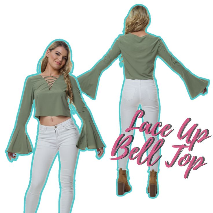Statement pieces everyone needs in their wardrobe. Try our Lace Up Bell Top in Khaki. Let's all have a killer week ladies! 💕