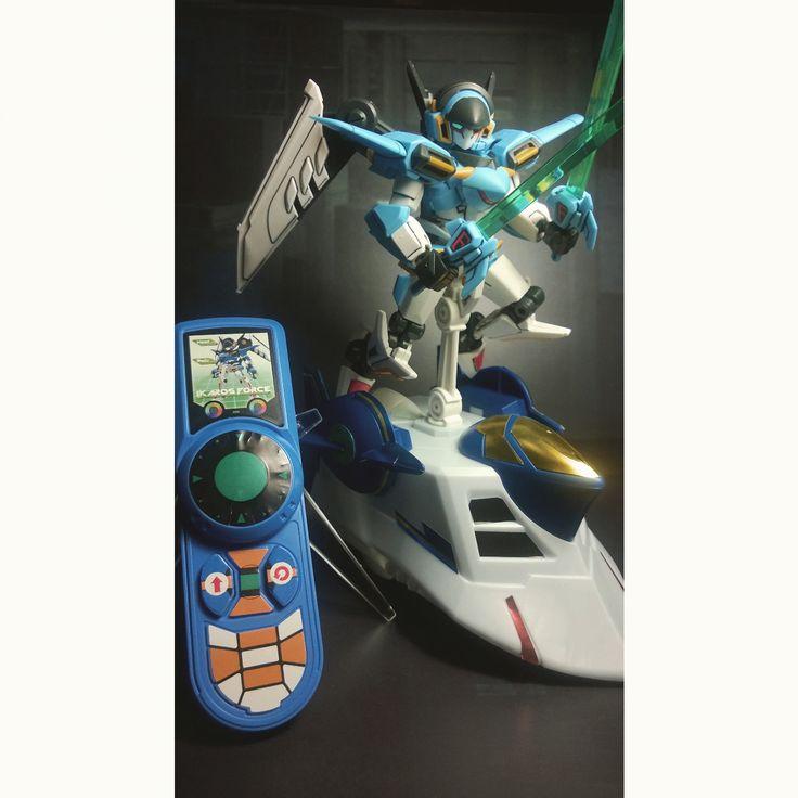 LBX Ikaros Force with riding saucer