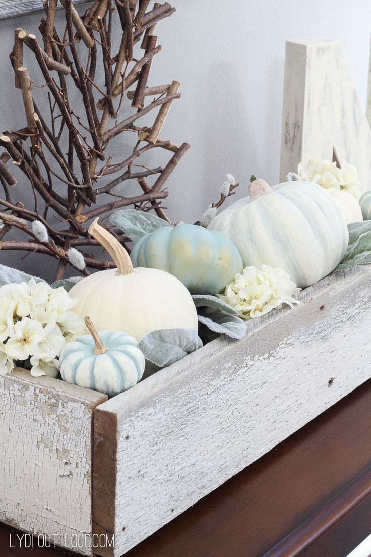 DIY Decorative Pumpkins are such an easy way to bring your style and personality into your fall decor. I went for a muted, chalky finish for mine this year.