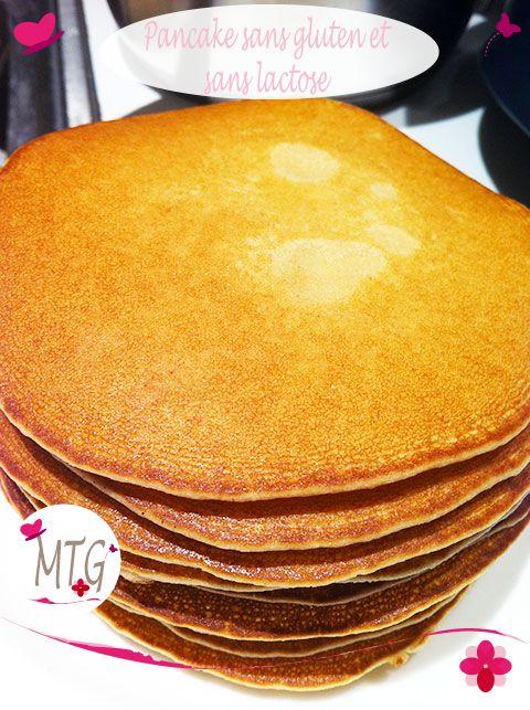 Recette : pancake sans gluten et sans lactose 250 g de Farine de riz - 1 pincée de Bicarbonate de soude - 75 g de sucre complet - 1 sachet Sucre complet vanillé - 2 Oeufs - 25 cl de Lait de riz - 2 c à s d'Huile de tournesol