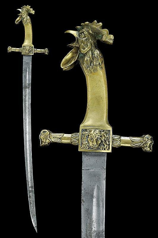A sapper's dagger, France 20th century Why anyone would want a chicken on a sword is beyond me