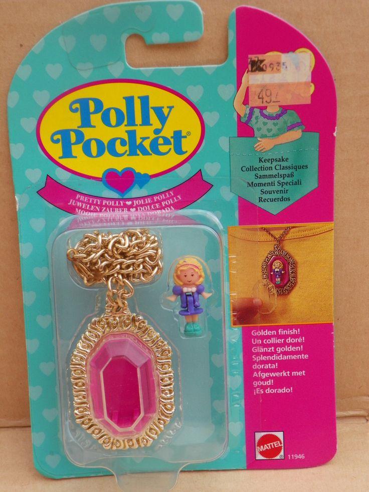 Vintage Polly Pocket Locket Necklace Very Rare NRFB - Pretty Polly - Keepsake Collection , 1994 Bluebird Polly Pocket #11946 Miniature Doll by ShersBears on Etsy