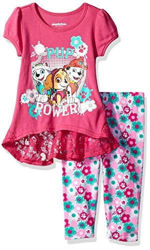Nickelodeon Girls' 2 Piece Paw Patrol Tee and Short Set, Pink, 12m  Elastic all around the waist  Great outfit  Super cute  Your kid will love this