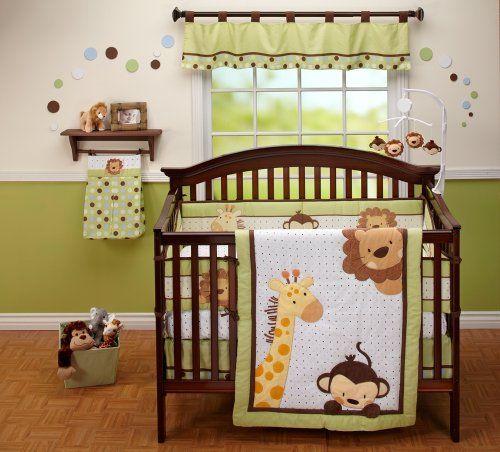 crib+bedding+giraffe | NoJo Little Bedding Jungle Pals 4 Piece Crib Set
