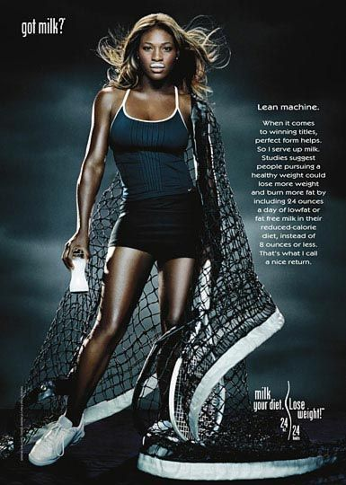 Got milk Serena Williams