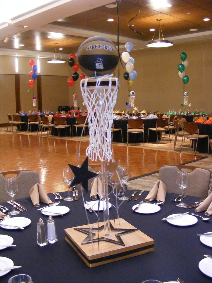 Basketball Centerpieces Masquerade Basketball