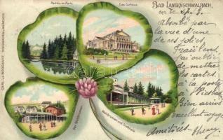 Langenschwalbach, Bad Schwalbach; clover litho