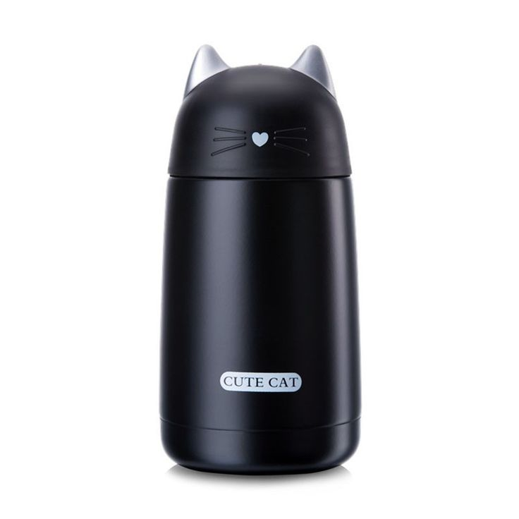 Cartoon Cat Thermos Flask