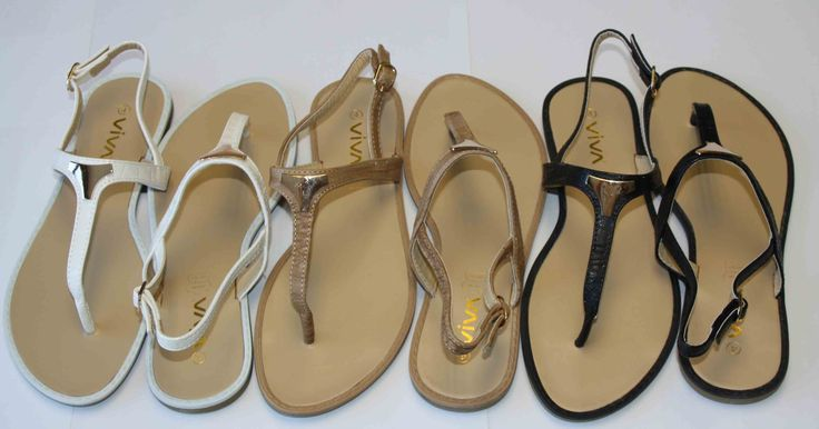 Viva summer sandals in assorted colours