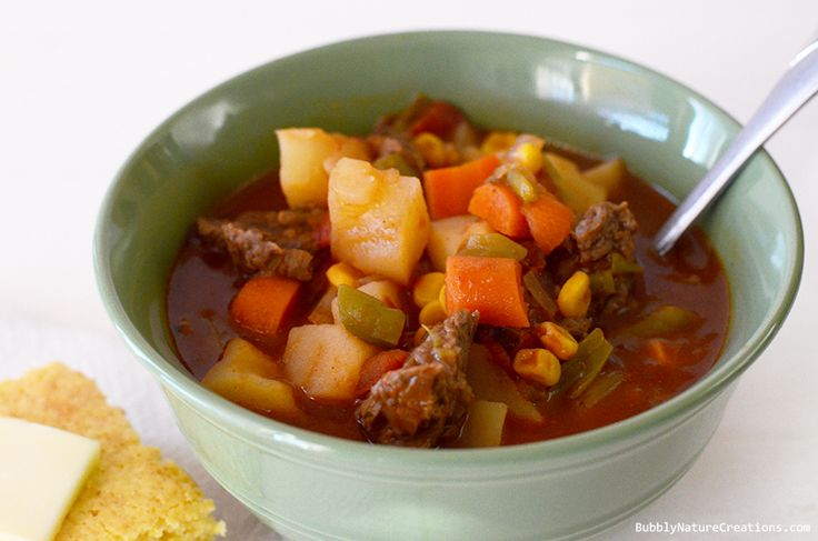 Mom's Vegetable Beef Stew  (Crockpot) Heirloom Recipes