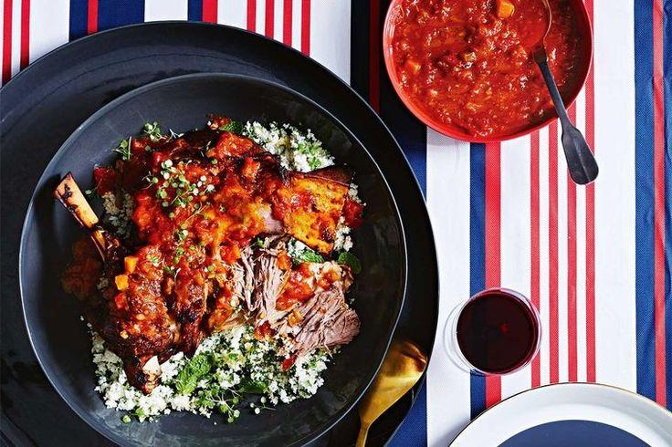 Roast lamb with cauliflower couscous