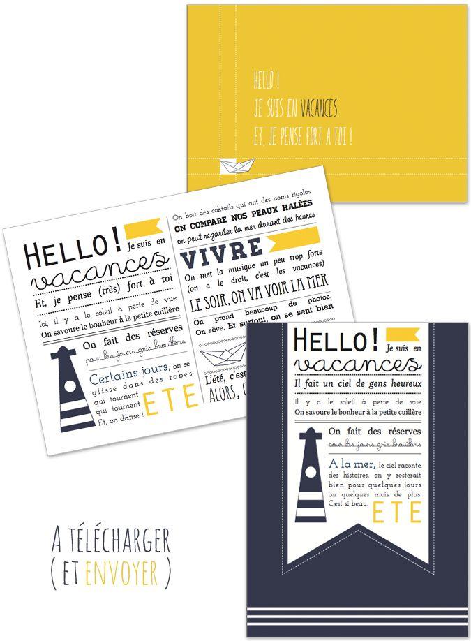 et si on envoyait une jolie carte de vacances ?