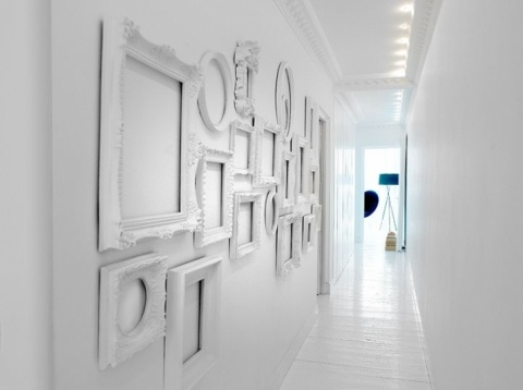 Monochromatic Gallery Wall of Frames