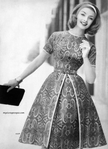 1960's fashion for women. A return to youth, shocking colors, shorter hemlines, pop art and the hippie movement. 1960s fashion history.