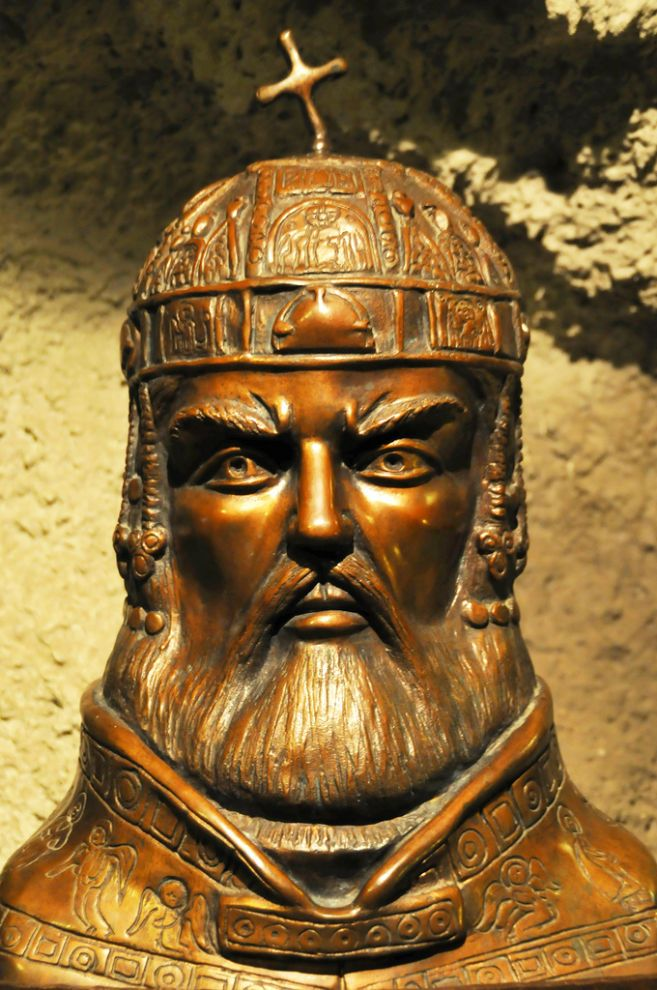 Bust of St. Stephen, Hungary. The first King of Hungary ruled from  997-1038 and was instrumental in bringing the catholic church, and thus  protection and prosperity, to Hungary