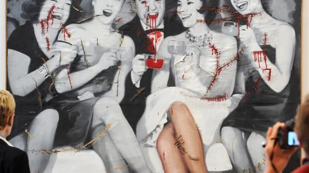 """Party"" 1963, Gerhard Richter, early Pop Art / (""Kapitalistischer Realismus"")"