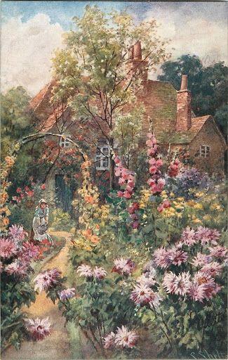 * * * Cottage Flower Garden