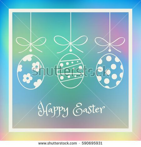 Easter background with Easter eggs and frame. Abstract background.