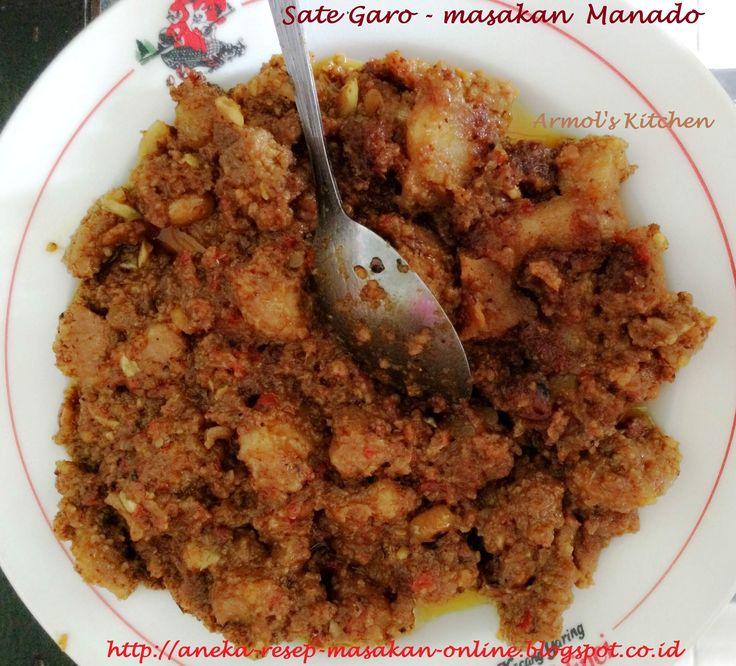 SATE GARO   Daging babi bumbu sate yang dimasak di wajan. Yuk simak resepnya http://aneka-resep-masakan-online.blogspot.com/2015/02/resep-sate-garo-manado.html
