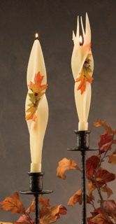 candle beeswax candle taper candle halloween by BougieCandles
