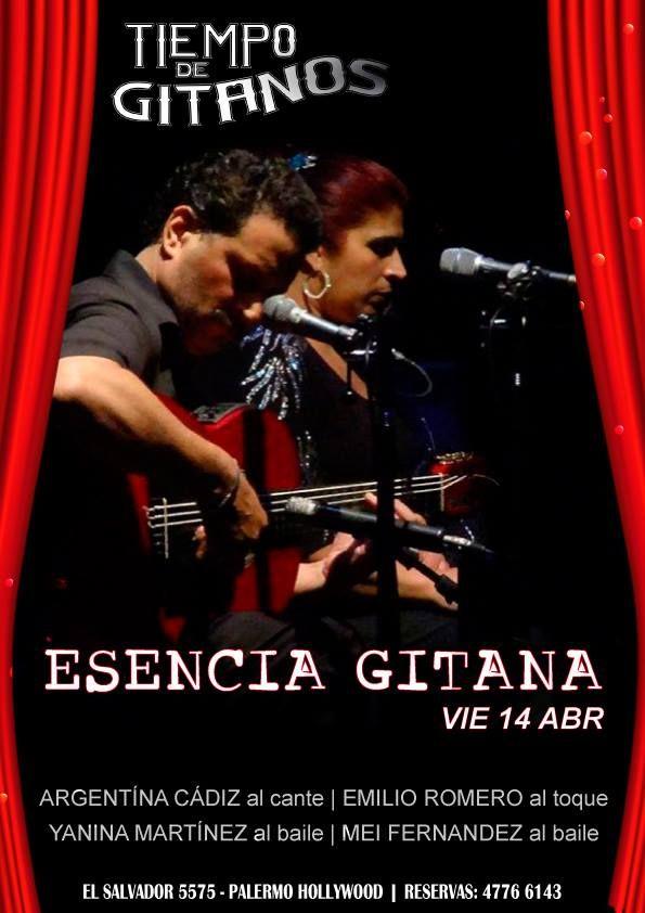 """HOY NO TE PIERDAS A """"ESENCIA GITANA""""  Cena 21:30 hs - Show 23:30 hs    Reservas 4776 6143"""
