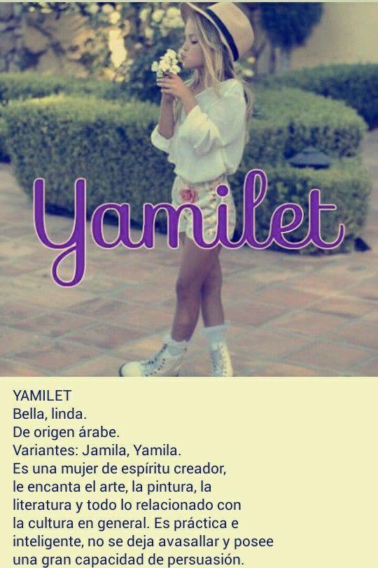 Nombres de niñas, significado del nombre Yamilet