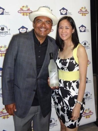 George Lopez with VuQo's Marketing VP Giselle Arroyo