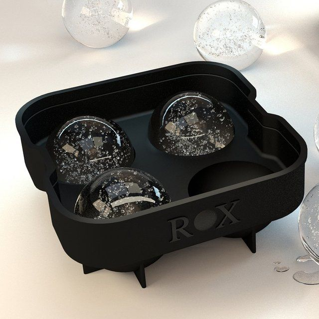 Make your chilled drinks and beverages look even more glamorous by filling them with ice cubes shaped out of this ROX Sphere Ice Ball Maker.