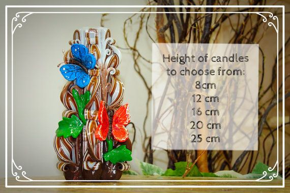 Carved candles ''Butterfly''. Candle. Gift.  от RoyalCarvedCandles