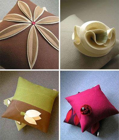 decorative pillows!Graphics Felt, Pillows Covers, Decorative Pillows, Felt Pillows, Decor Pillows, Throw Pillows, Pillows Design, Design Pillows, Pillows Crafts