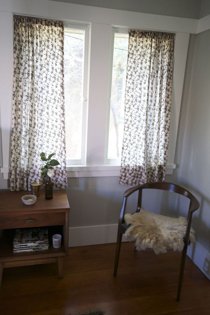 how to cut fabric straight for curtains