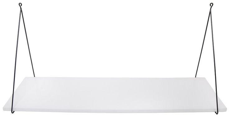 Rose in April wandplank Babou wit 85 x 24 cm