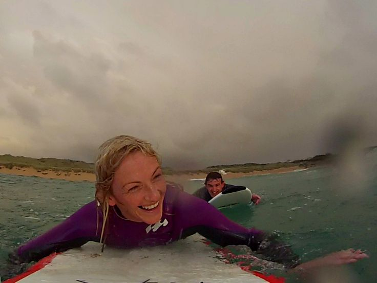 Surfing is a passion to share #livethesearch #gopro #surferliving #surfergirl #proposal Pre proposal picture