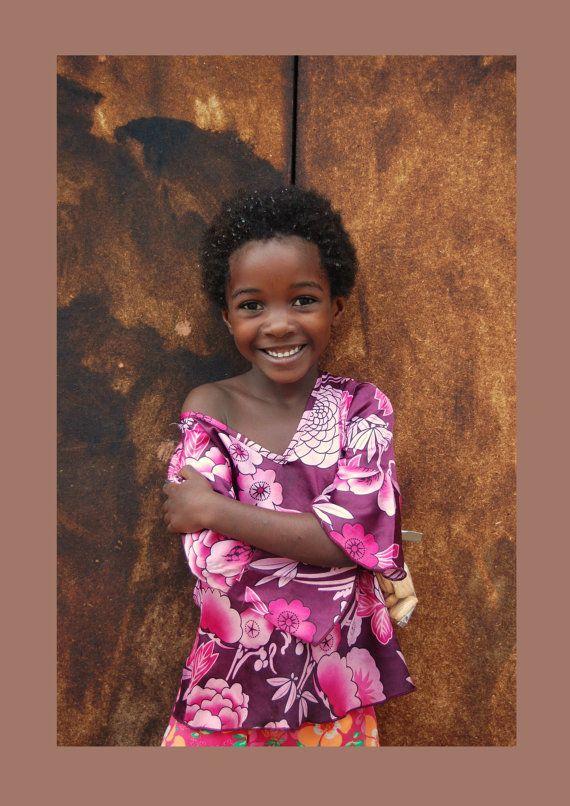 Happy African Girl  Portrait Decoration by BeyondDesignStudio