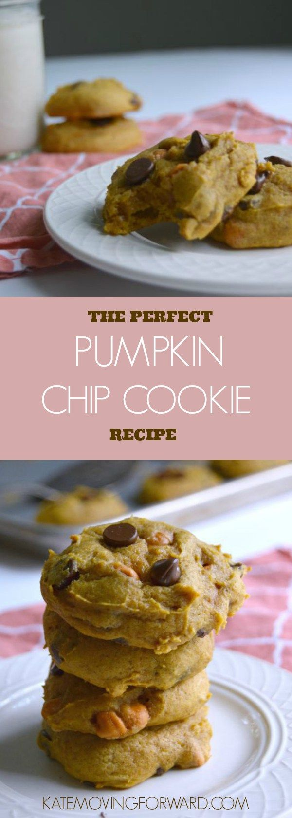 Pumpkin Chip Cookie - Pumpkin Chocolate Chip Cookie - Pumpkin Cookie Recipe - Pumpkin Cookies Easy - Pumpkin Cookies - Easy Fall Desserts