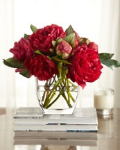 Horchow Collection Pink Bouquet Faux Peonies